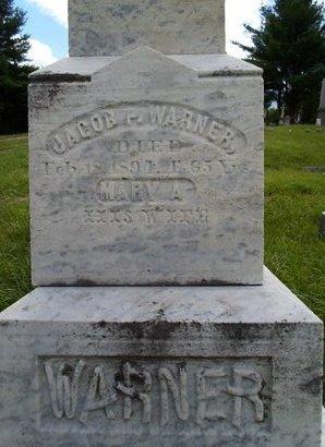 WARNER, JACOB P - Albany County, New York | JACOB P WARNER - New York Gravestone Photos