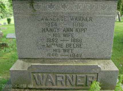 WARNER, NANCY ANN - Albany County, New York | NANCY ANN WARNER - New York Gravestone Photos