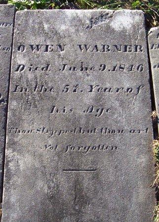 WARNER, OWEN - Albany County, New York   OWEN WARNER - New York Gravestone Photos