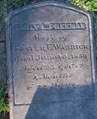 FREEMAN WARRICK, EMILY - Albany County, New York | EMILY FREEMAN WARRICK - New York Gravestone Photos