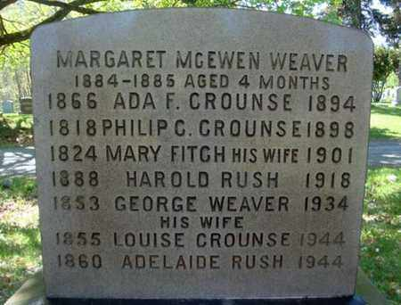 CROUNSE WEAVER, LOUISE - Albany County, New York | LOUISE CROUNSE WEAVER - New York Gravestone Photos