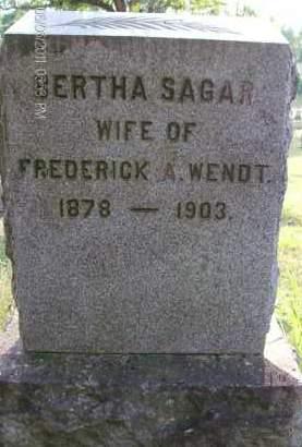 WENDT, BERTHA - Albany County, New York | BERTHA WENDT - New York Gravestone Photos