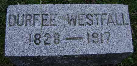 WESTFALL, DURFEE - Albany County, New York | DURFEE WESTFALL - New York Gravestone Photos