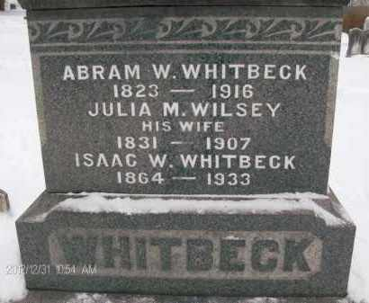 WHITBECK, ISAAC W - Albany County, New York   ISAAC W WHITBECK - New York Gravestone Photos