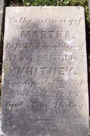 WHITNEY, MARTHA - Albany County, New York | MARTHA WHITNEY - New York Gravestone Photos