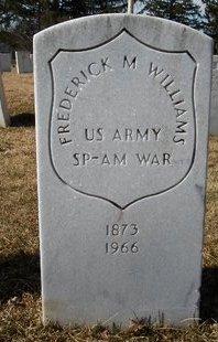 WILLIAMS, FREDERICK M - Albany County, New York | FREDERICK M WILLIAMS - New York Gravestone Photos