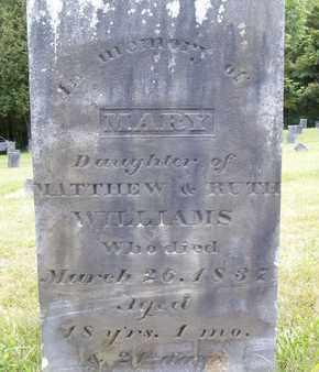 WILLIAMS, MARY - Albany County, New York | MARY WILLIAMS - New York Gravestone Photos