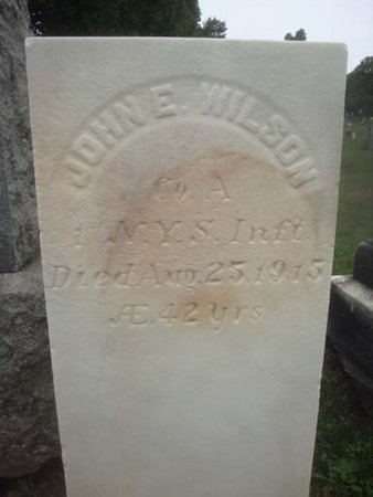WILSON, JOHN E - Albany County, New York   JOHN E WILSON - New York Gravestone Photos