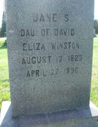 WINSTON, JANE S - Albany County, New York | JANE S WINSTON - New York Gravestone Photos