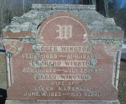 WINSTON MARSHALL, SARAH - Albany County, New York | SARAH WINSTON MARSHALL - New York Gravestone Photos