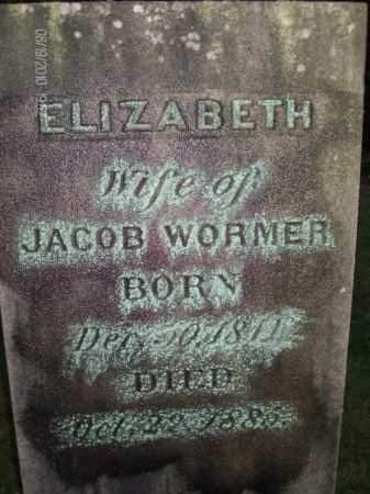 WORMER, ELIZABETH - Albany County, New York | ELIZABETH WORMER - New York Gravestone Photos