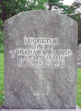 WORMER, LUCRETIA - Albany County, New York | LUCRETIA WORMER - New York Gravestone Photos