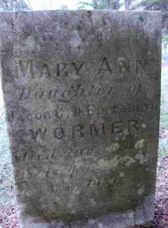 WORMER, MARY ANN - Albany County, New York | MARY ANN WORMER - New York Gravestone Photos