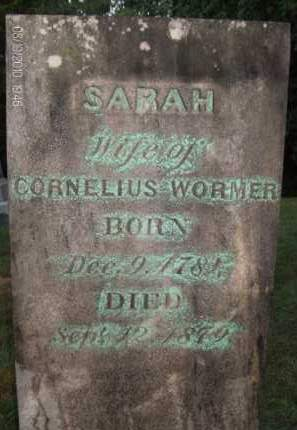 WORMER, SARAH - Albany County, New York   SARAH WORMER - New York Gravestone Photos