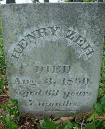ZEH, HENRY - Albany County, New York | HENRY ZEH - New York Gravestone Photos