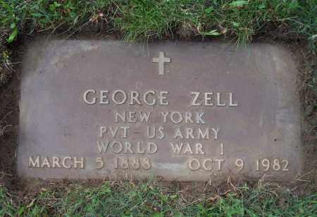 ZELL (WWI), GEORGE - Albany County, New York | GEORGE ZELL (WWI) - New York Gravestone Photos