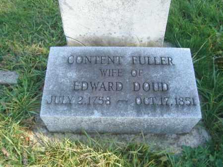 DOUD, CONTENT - Allegany County, New York | CONTENT DOUD - New York Gravestone Photos