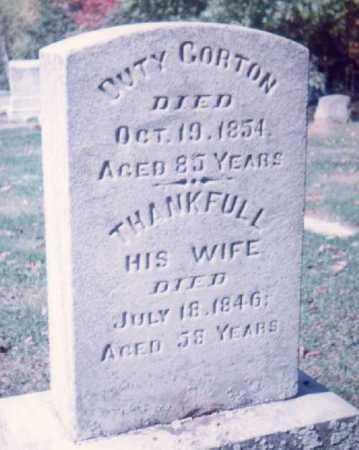 GORTON, DUTY - Allegany County, New York | DUTY GORTON - New York Gravestone Photos