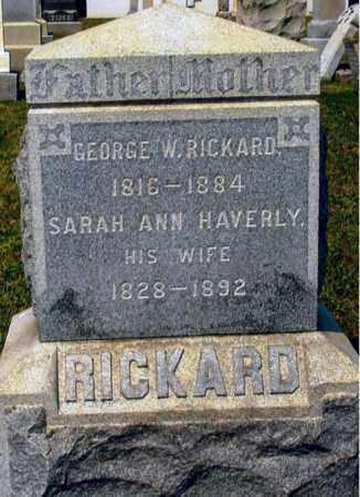 RICKARD, GEORGE W. - Broome County, New York | GEORGE W. RICKARD - New York Gravestone Photos