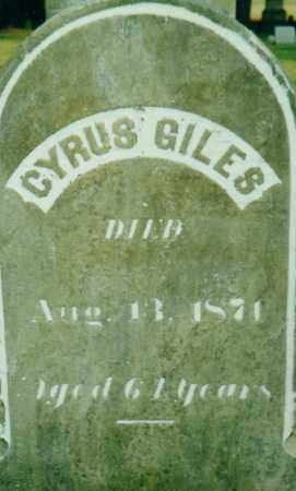 GILES, CYRUS - Cattaraugus County, New York   CYRUS GILES - New York Gravestone Photos
