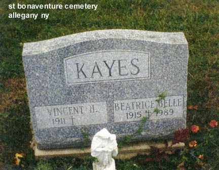 KAYES, BEATRICE BELL - Cattaraugus County, New York | BEATRICE BELL KAYES - New York Gravestone Photos