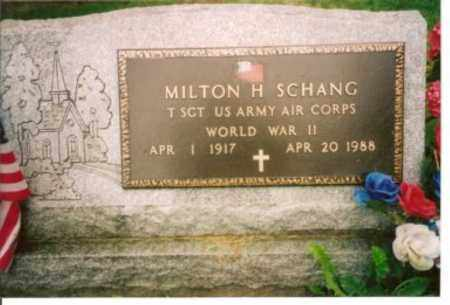 SCHANG (WWII), MILTON H. - Cattaraugus County, New York | MILTON H. SCHANG (WWII) - New York Gravestone Photos