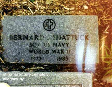 SHATTUCK (WWII), BERNARD JERALD - Cattaraugus County, New York | BERNARD JERALD SHATTUCK (WWII) - New York Gravestone Photos