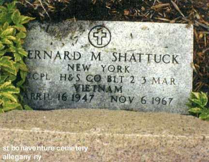 SHATTUCK (VN), BERNARD MERLE - Cattaraugus County, New York | BERNARD MERLE SHATTUCK (VN) - New York Gravestone Photos