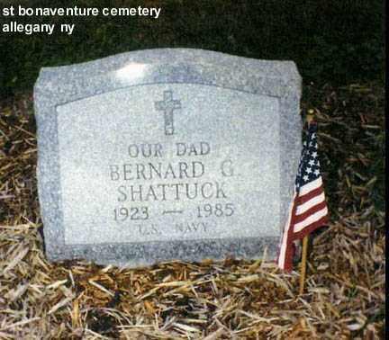 SHATTUCK, BERNARD GERALD - Cattaraugus County, New York   BERNARD GERALD SHATTUCK - New York Gravestone Photos