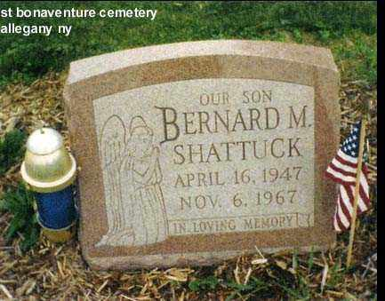 SHATTUCK, BERNARD MERLE - Cattaraugus County, New York   BERNARD MERLE SHATTUCK - New York Gravestone Photos