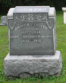 MACOMBER CULVER, MARY J. - Cayuga County, New York | MARY J. MACOMBER CULVER - New York Gravestone Photos