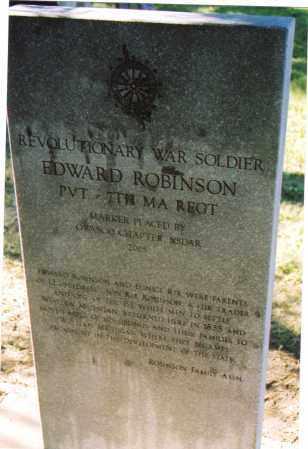 ROBINSON, EDWARD - Cayuga County, New York   EDWARD ROBINSON - New York Gravestone Photos
