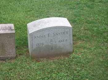 HOLMES SNYDER, ANNA E. - Cayuga County, New York   ANNA E. HOLMES SNYDER - New York Gravestone Photos