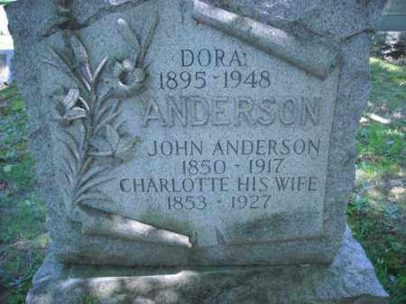ANDERSON, DORA - Chautauqua County, New York | DORA ANDERSON - New York Gravestone Photos