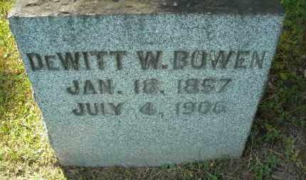 BOWEN, DEWITT W. - Chautauqua County, New York   DEWITT W. BOWEN - New York Gravestone Photos