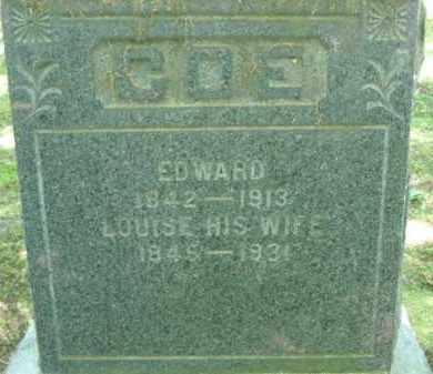 COE, LOUISE - Chautauqua County, New York | LOUISE COE - New York Gravestone Photos