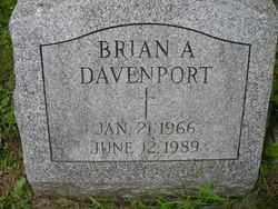 DAVENPORT, BRIAN A. - Chautauqua County, New York | BRIAN A. DAVENPORT - New York Gravestone Photos