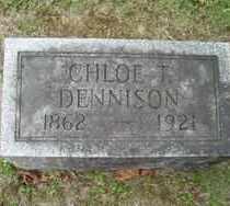 DENNISON, CHLOE - Chautauqua County, New York | CHLOE DENNISON - New York Gravestone Photos
