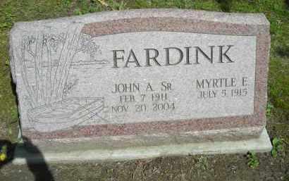 FARDINK, JOHN A., SR. - Chautauqua County, New York | JOHN A., SR. FARDINK - New York Gravestone Photos