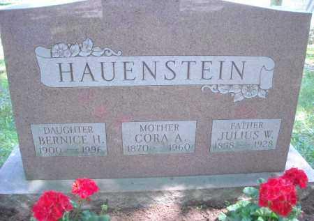 HAUENSTEIN, CORA A. - Chautauqua County, New York | CORA A. HAUENSTEIN - New York Gravestone Photos