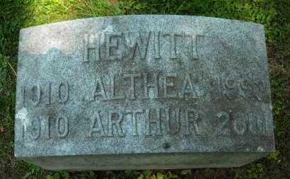 HEWITT, ALTHEA - Chautauqua County, New York | ALTHEA HEWITT - New York Gravestone Photos