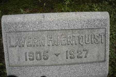 HJERTQUIST, LAVERN - Chautauqua County, New York | LAVERN HJERTQUIST - New York Gravestone Photos