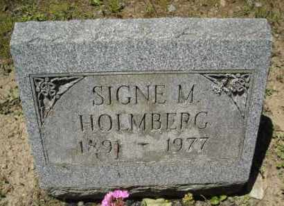 HOLMBERG, SIGNE - Chautauqua County, New York | SIGNE HOLMBERG - New York Gravestone Photos