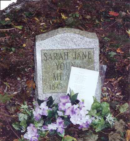 YOUNG MUNGER, SARAH JANE - Chautauqua County, New York | SARAH JANE YOUNG MUNGER - New York Gravestone Photos
