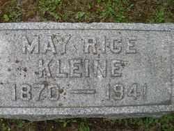 RICE KLEINE, MAY - Chautauqua County, New York   MAY RICE KLEINE - New York Gravestone Photos