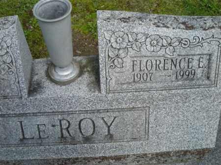 LEROY, FLORENCE - Chautauqua County, New York | FLORENCE LEROY - New York Gravestone Photos