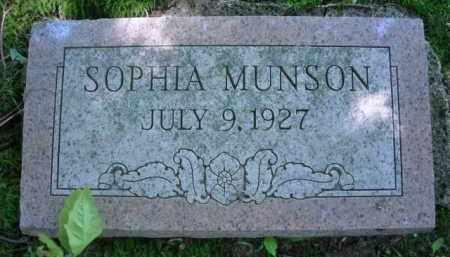 MUNSON, SOPHIA - Chautauqua County, New York | SOPHIA MUNSON - New York Gravestone Photos