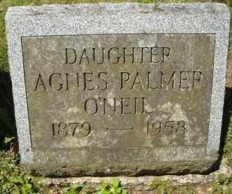 PALMER O'NEIL, AGNES - Chautauqua County, New York | AGNES PALMER O'NEIL - New York Gravestone Photos