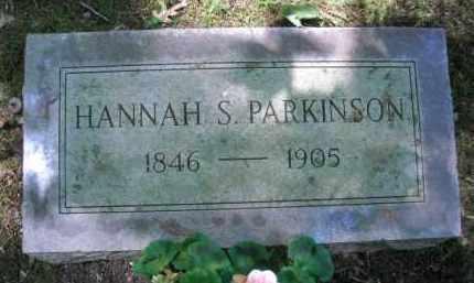 PARKINSON, HANNAH S. - Chautauqua County, New York | HANNAH S. PARKINSON - New York Gravestone Photos
