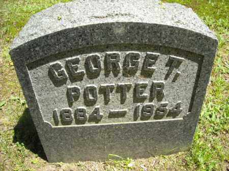POTTER, GEORGE T. - Chautauqua County, New York | GEORGE T. POTTER - New York Gravestone Photos